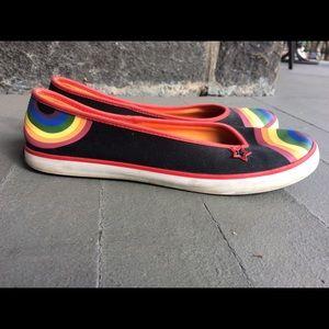 Keds black rainbow slip-ons